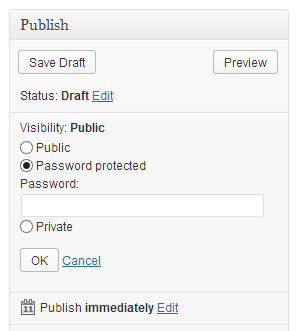 Wordpress Password Protect Feature